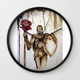 Rose death Wall Clock