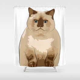 Fluffy CAT Shower Curtain