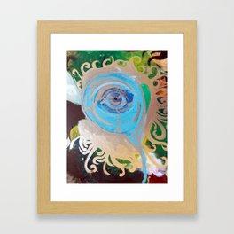Intro-psychedelic eye Framed Art Print