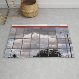 Reflections Of The Cloudy Sky Rug