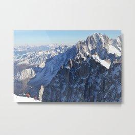 Mont Blanc, Chamonix. Metal Print