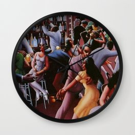 Nightlife by Archibald Motley Wall Clock