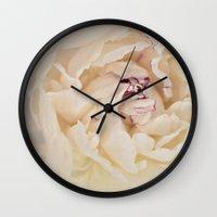 peony Wall Clocks featuring Peony by Artemio Studio