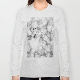 Gray Marble Long Sleeve T-shirt