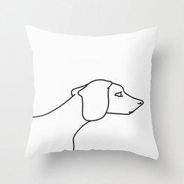 Minimal Dachshund Throw Pillow