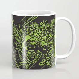 Frogs Crystals Magic Nature Boho Witchy New Age Coffee Mug