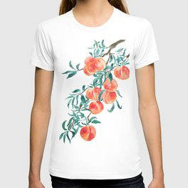 peach watercolor T-shirt
