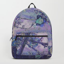 Blossoms Abstract Violet Backpack