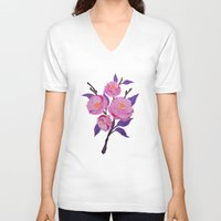 study V-neck T-shirts featuring Flower study by Bexelbee