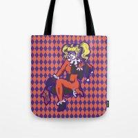 harley Tote Bags featuring Harley by Sophie Jewel