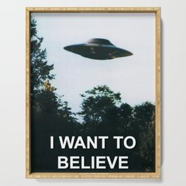 I Want to Believe Serving Tray