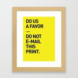 Save the planet. Framed Art Print
