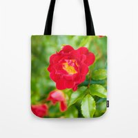 moulin rouge Tote Bags featuring ROUGE by Allison Newcomer