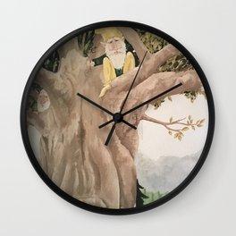 Hiding Gnomes Wall Clock