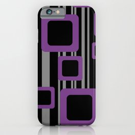 Violet Black Pattern Rectangles #society6  iPhone Case