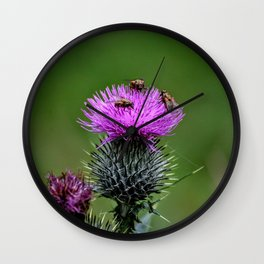 Flower of Scotland Wall Clock