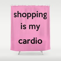 shopping Shower Curtains featuring SHOPPING by I Love Decor