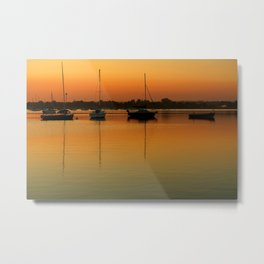 Sleeping Sail Boats Metal Print