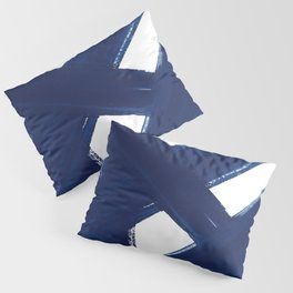 Indigo Abstract Brush Strokes | No. 3 Pillow Sham