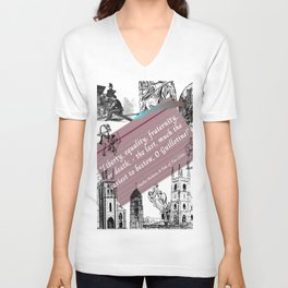 A Tale of Two Cities Quote By Charles Dickens  Unisex V-Neck