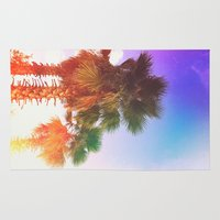 palms Area & Throw Rugs featuring Palms by Neon Wildlife