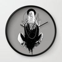goddess Wall Clocks featuring Goddess by alesaenzart