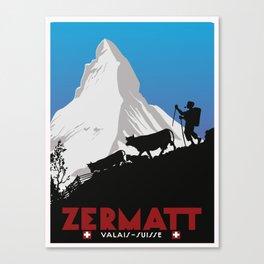 Zermatt,Valais,Suisse Canvas Print