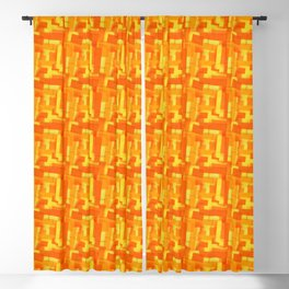 Orange Marmalade pattern by Adam Cooley Blackout Curtain