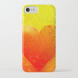 Yellow Heart iPhone Case