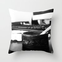 the office Throw Pillows featuring Office by Difilippo
