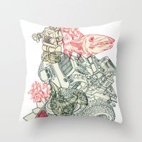 chaos Throw Pillows featuring Chaos by Tin Salamunic