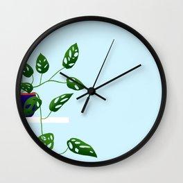 Monstera Adansonii Wall Clock