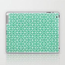 Jade and White Greek Key Pattern Laptop & iPad Skin