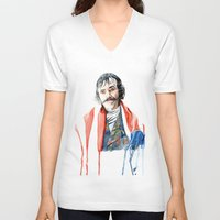 bill murray V-neck T-shirts featuring bill by Brian Vasquez