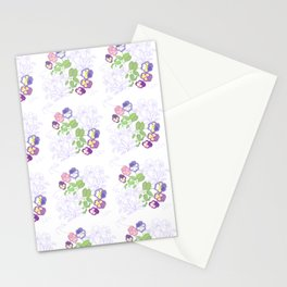 Pansies Neck Gator Pansy Stationery Cards