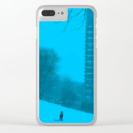 Heavy Blues Clear iPhone Case