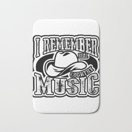 I Remember Real Country Music  Gift Bath Mat