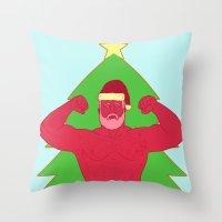 santa Throw Pillows featuring Santa by Mavekk