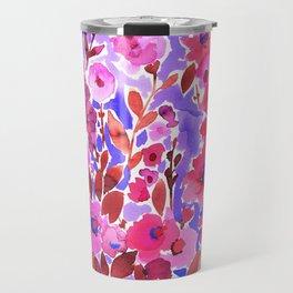 Isla Floral Purple Travel Mug