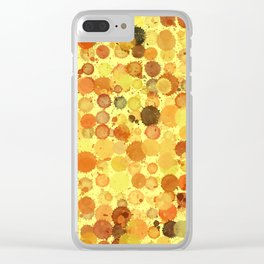 SPLOTCHES, GOLD Clear iPhone Case