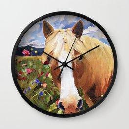 Poppy Haffie Wall Clock