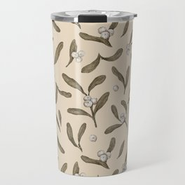 Mistletoe Pattern Travel Mug