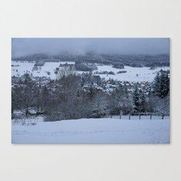 White Snowy Brotterode Canvas Print