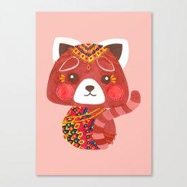 Jessica The Cute Red Panda Canvas Print