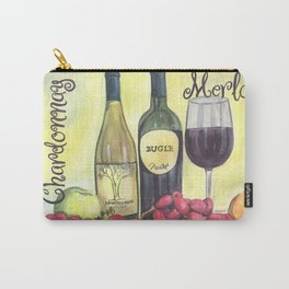 Watercolor Wine Carry-All Pouch
