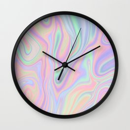 Liquid Colorful Abstract Rainbow Paint Wall Clock