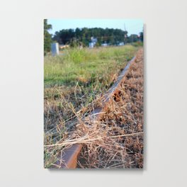Covered Rail Metal Print