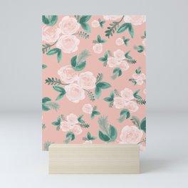 Watercolor Roses in Soft Pink Mini Art Print