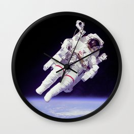 Astronaut on a Spacewalk Wall Clock