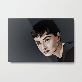 Audrey Hepburn Metal Print